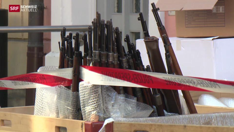 Hunderte von Waffen konfisziert