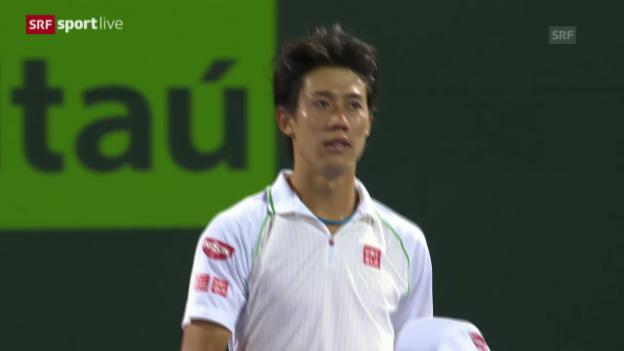 Video «Tennis: Federer unterliegt Nishikori» abspielen