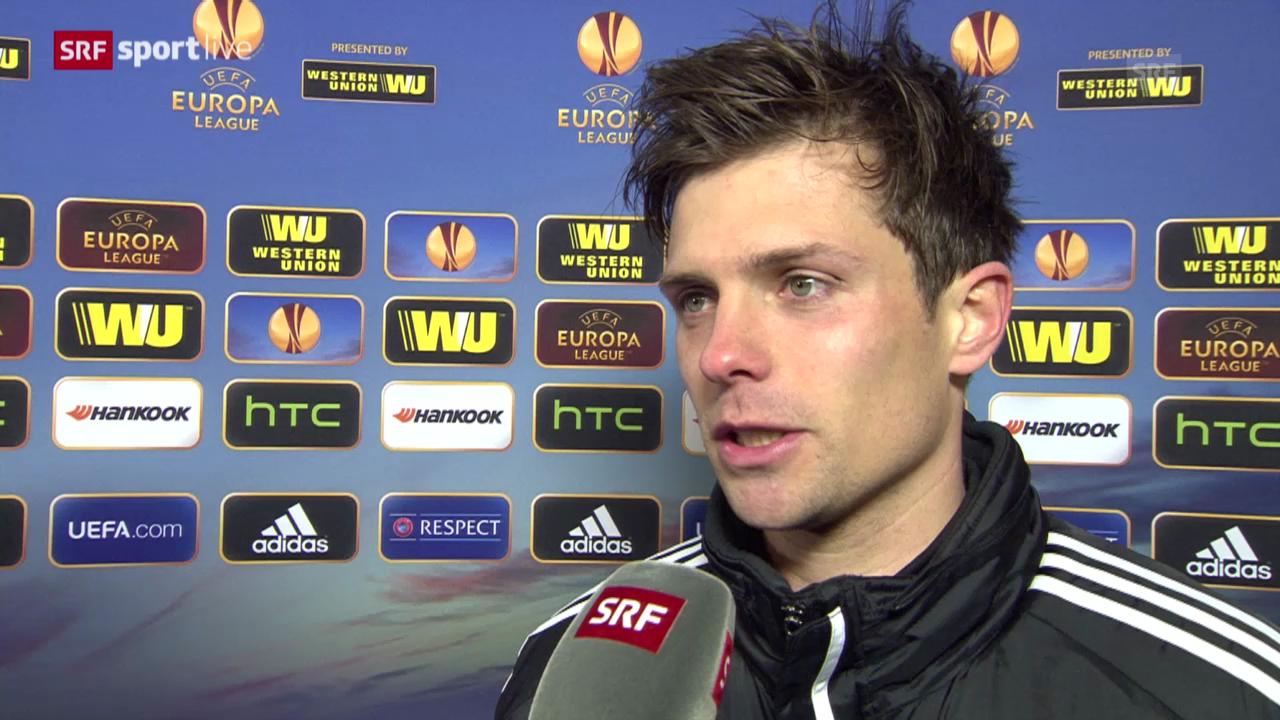 Fussball: Basel-Maccabi, Interview mit Valentin Stocker («sportlive», 27.2.14)