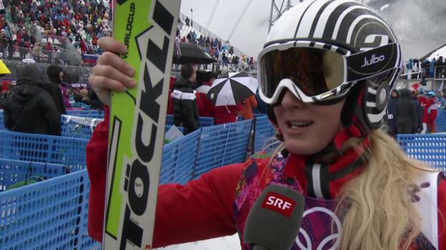 Video «Interview mit Sanna Lüdi (sotschi direkt, 21.2.2014)» abspielen