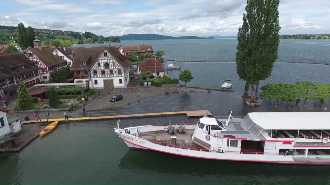 Hochwasser am Bodensee (unkommentiert)