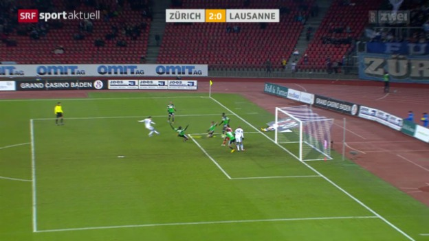 Video «Fussball: Super League, Zürich - Lausanne» abspielen