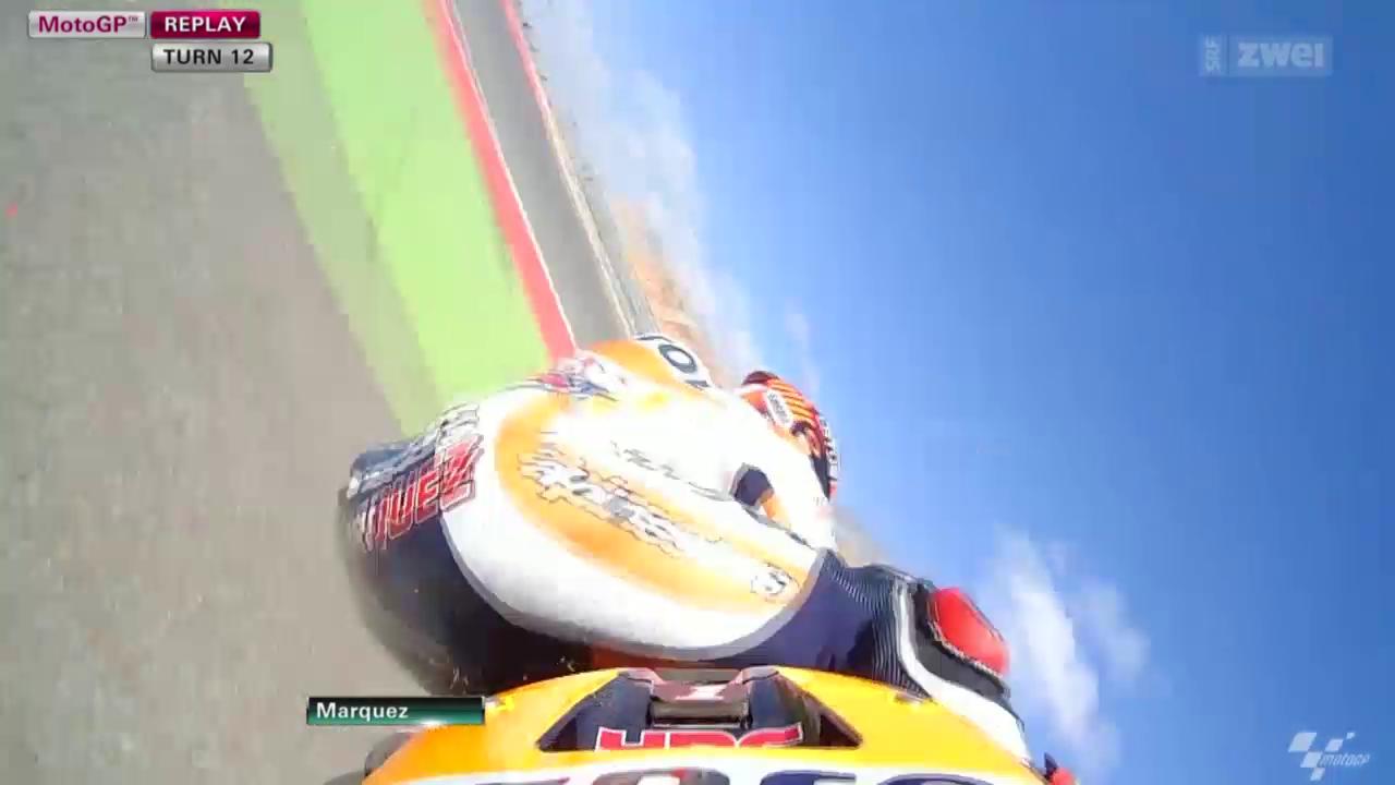 Motorrad: Moto-GP Aragon