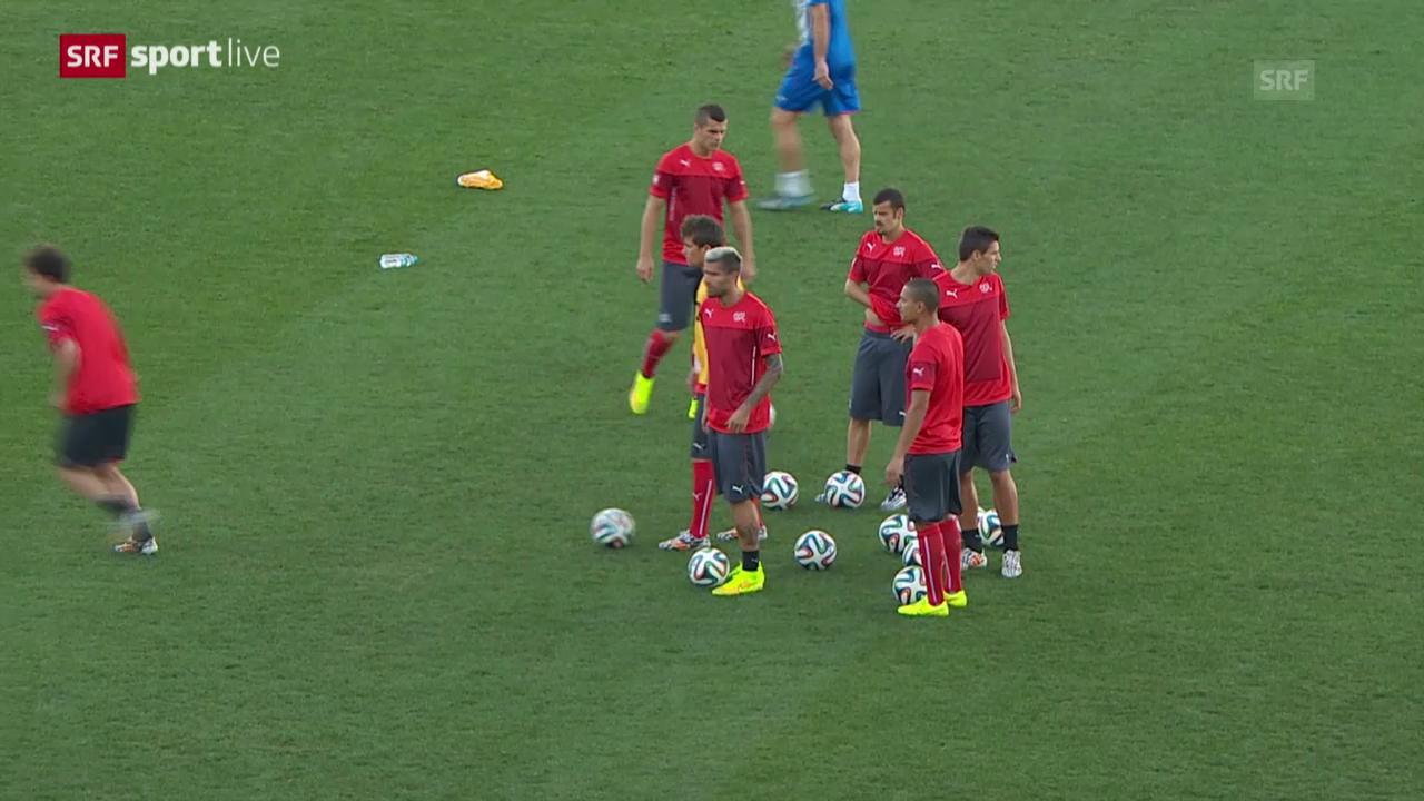 FIFA WM 2014: Die Schweiz vor dem Achtelfinal gegen Argentinien