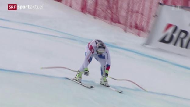 Video «Ski alpin: Abfahrt der Männer in Saalbach» abspielen