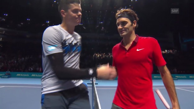 Video «Tennis: ATP Finals, Zusammenfassung Federer - Raonic» abspielen