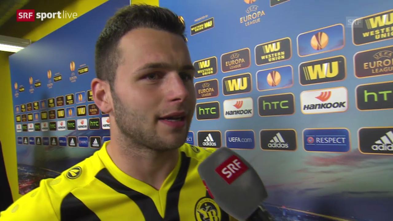 Fussball: Europa League, YB-Bratislava, Interview Steffen