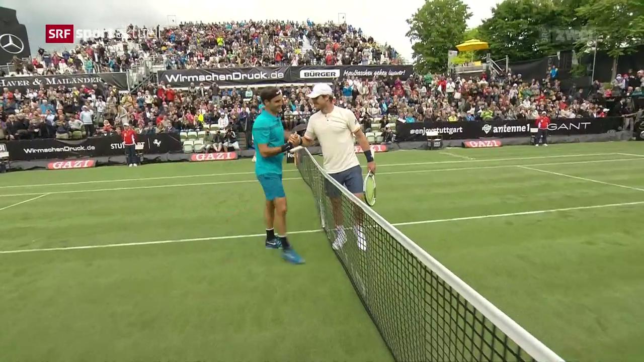Federer glückt der Wiedereinstieg in Stuttgart