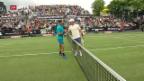 Video «Federer glückt der Wiedereinstieg in Stuttgart» abspielen