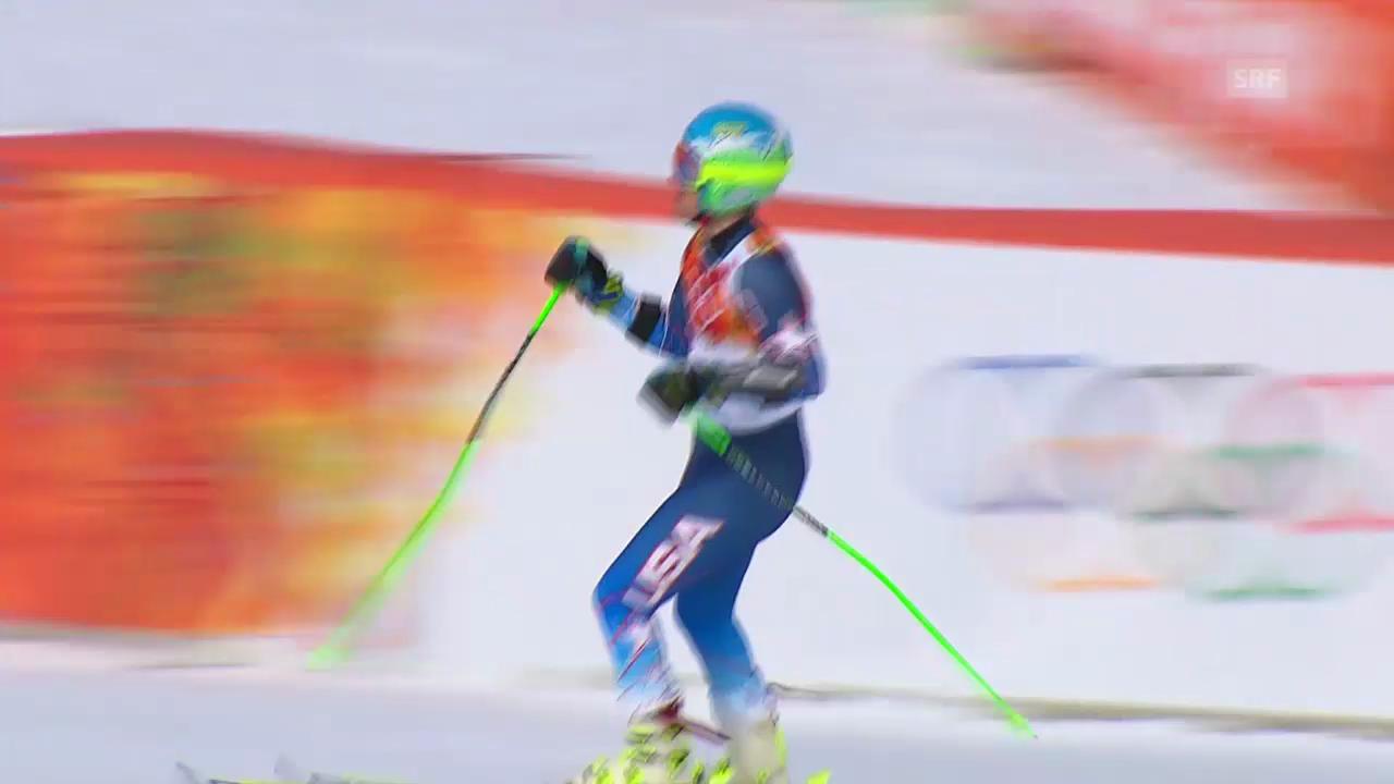 Ski: Riesenslalom Männer Sotschi, 1. Lauf von Ted Ligety (sotschi direkt, 19.2.14)