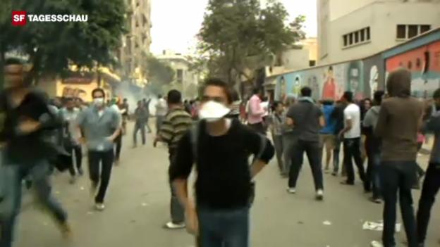 Video «Krawalle in Kairo (unkommentiert)» abspielen