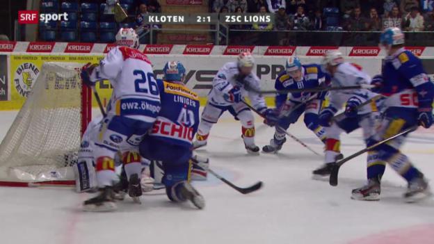 Video «29.09.2013: Kloten-ZSC Lions 4:3 n.P.» abspielen