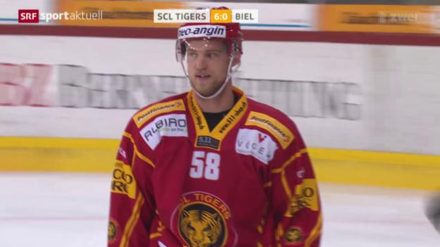 Video «Eishockey: Gustafssons Triplette gegen Biel» abspielen