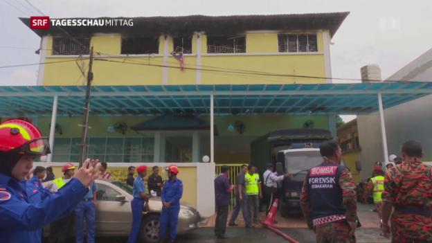 Video «21 Koran-Schüler in Malaysia verbrannt» abspielen