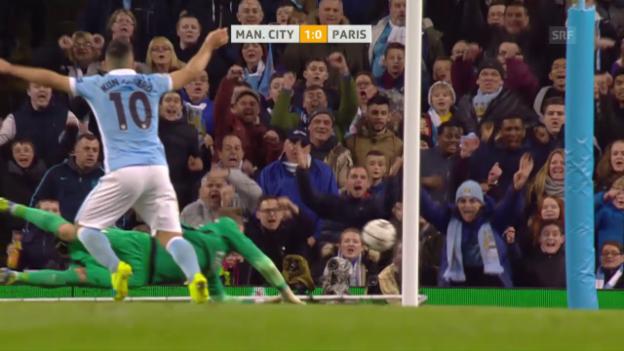 Video «De Bruyne schiesst City in den Halbfinal» abspielen