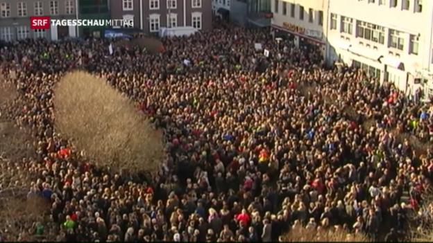 Video «Dubiose Geschäfte des isländischen Regierungschefs» abspielen