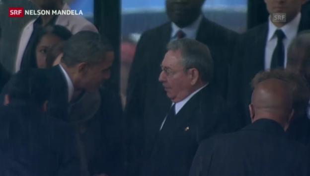 Video «Handschlag zwischen Obama und Castro» abspielen