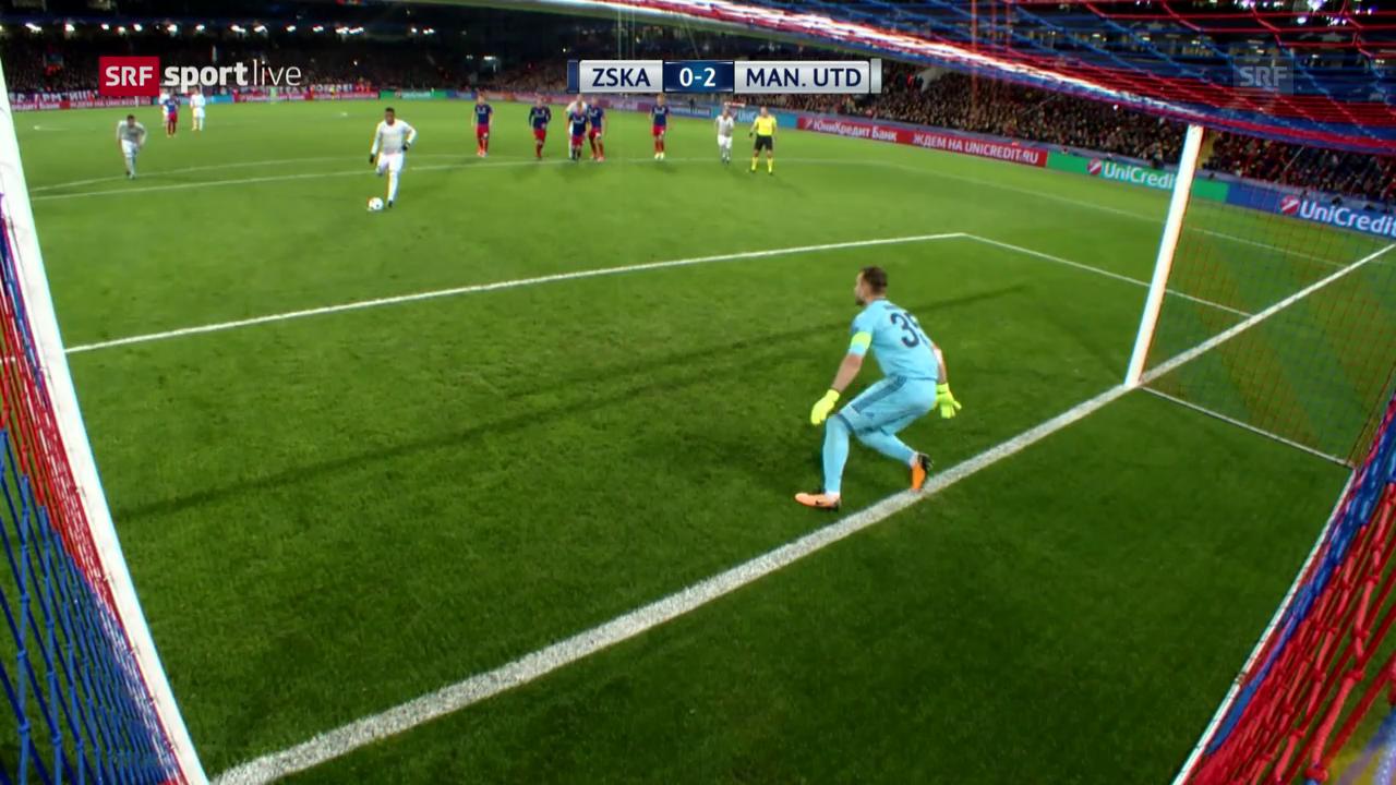 Manchester United siegt klar bei ZSKA Moskau