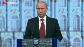 """Video «Putin will Wahlen in der Ukraine """"respektieren""""» abspielen"""