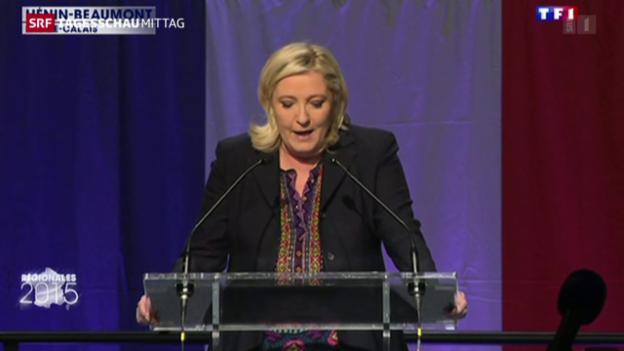 Video «Wahlschlappe für Front National» abspielen