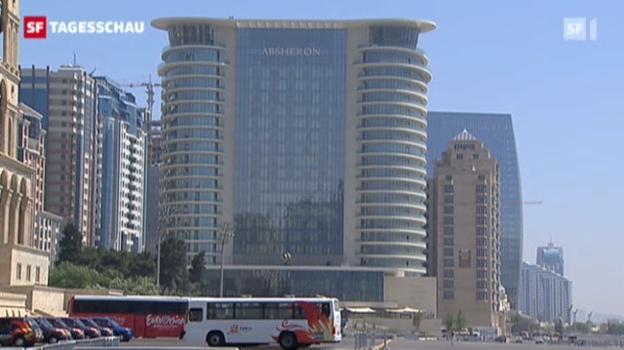 Video «So machte sich Baku für den Eurovision Song Contest bereit» abspielen