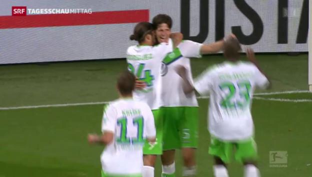 Video «Fussball: Bundesliga, Rodriguez und Klose treffen für Wolfsburg» abspielen