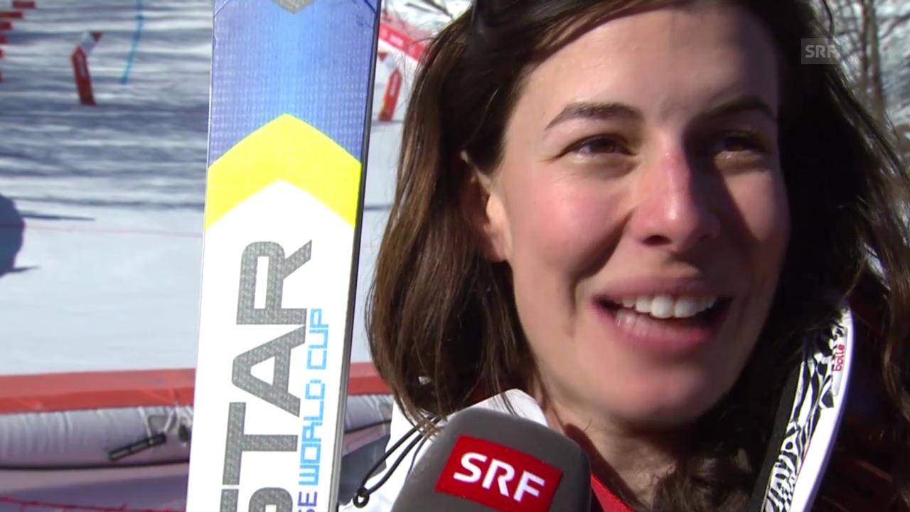 Ski: Abfahrt der Frauen, Interview mit Dominique Gisin (sotschi direkt, 12.02.2014)