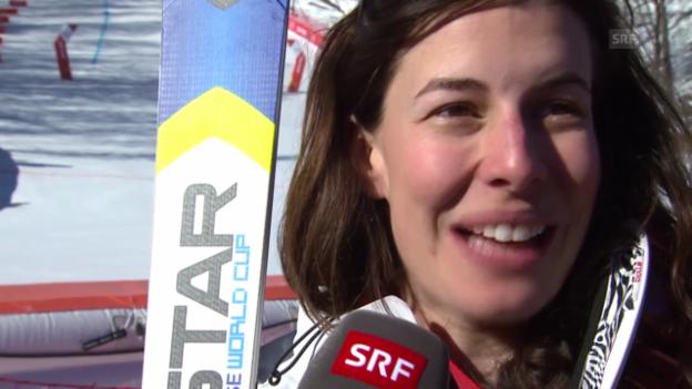 Video «Ski: Abfahrt der Frauen, Interview mit Dominique Gisin (sotschi direkt, 12.02.2014)» abspielen