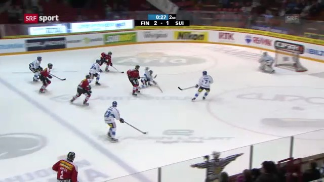 Eishockey: Finnland - Schweiz
