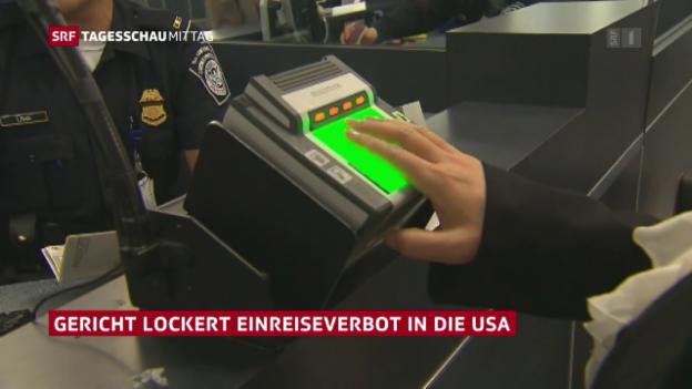 Video «Gericht lockert US-Einreiseverbot» abspielen