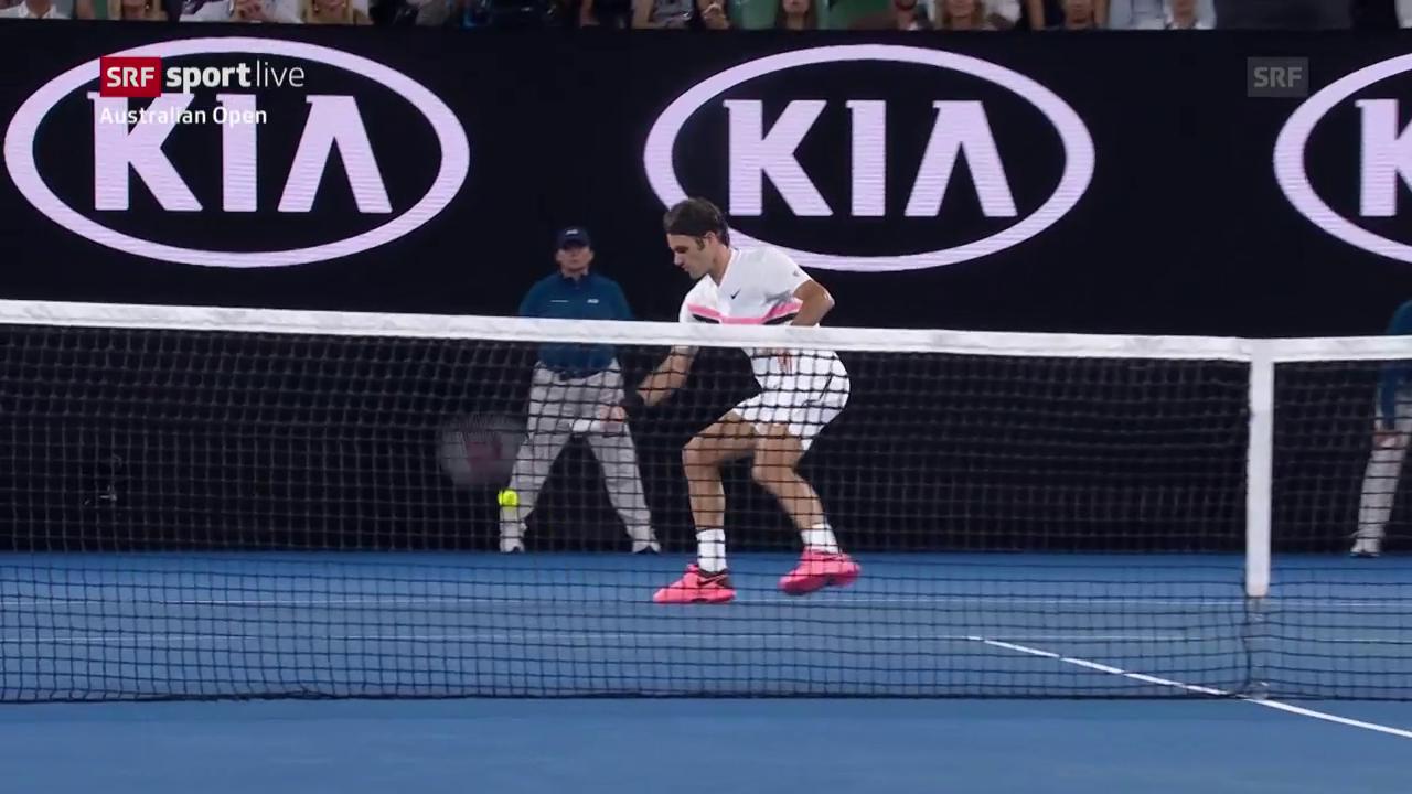Federers spektakulärer Halbvolley