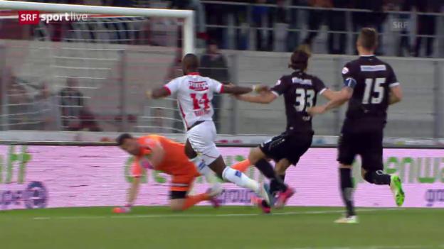 Video «Fussball: Super League, Moussa Konates Rekordtor gegen St. Gallen» abspielen