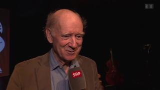 Video «Franz Hohler: 50 Jahre Schaffen gibt es auf 400 Seiten zu lesen» abspielen