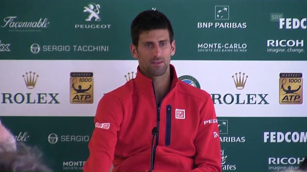 Video «Djokovic erklärt die Niederlage in Monte-Carlo» abspielen