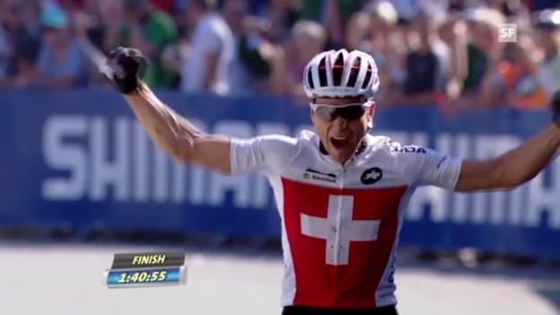 Video «MTB: Zieleinfahrt der Medaillengewinner («sportlive»)» abspielen