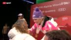 Video «Siegerehrung Super-Kombination Frauen» abspielen