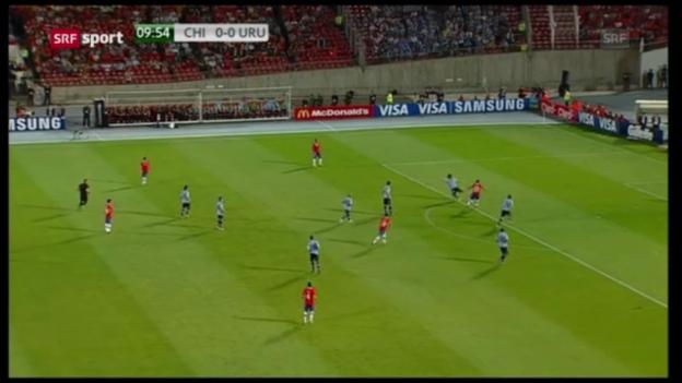 Video «WM-Quali Chile-Uruguay («sportaktuell» vom 27.03.13)» abspielen