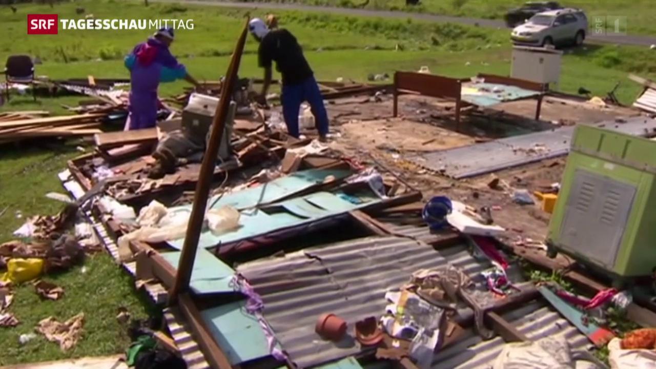 Immense Zerstörung nach Zyklon «Winston»
