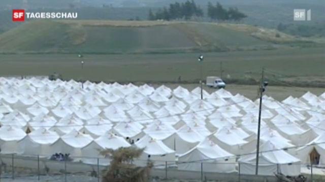 Bereits 7000 Syrer in die Türkei geflüchtet