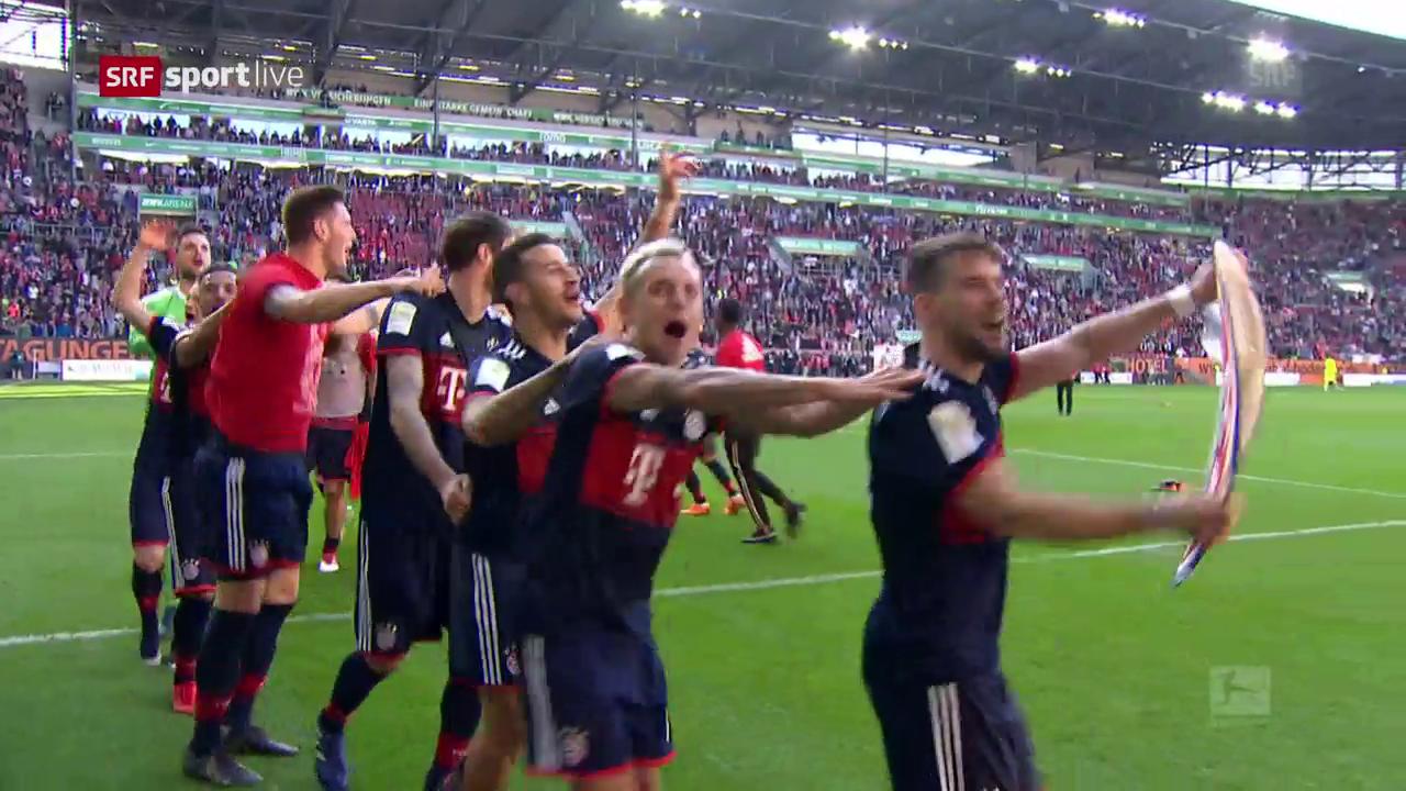 Die Bayern feiern den 6. Meistertitel in Serie
