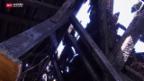 Video «Aufräumarbeiten nach Hotelbrand» abspielen