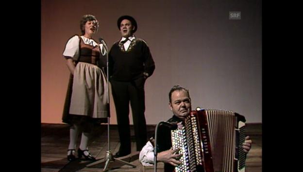 Video «Archivperle: Liedermacher und Jodler im Studio» abspielen