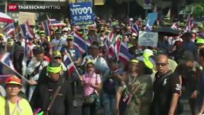 Video «Tausende protestieren in Thailand» abspielen