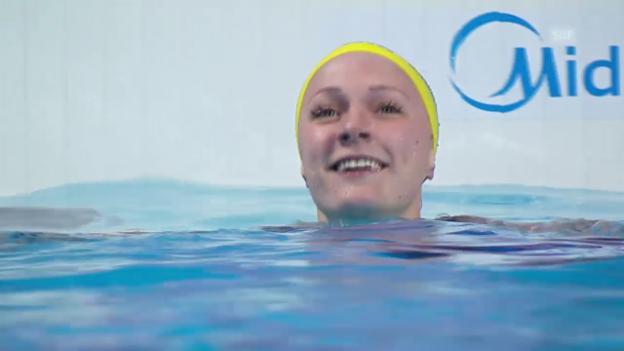 Video «Schwimmen: WM Kasan, Weltrekord über 100 m Delfin» abspielen