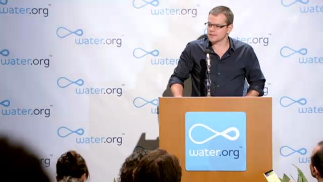 WC-Pressekonferenz von Matt Damon (Werbefilm für guten Zweck)