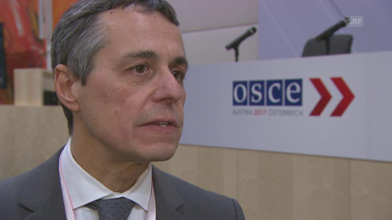 Aussenminister Cassis blickt mit Sorgen nach Jerusalem