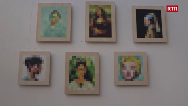Laschar ir video «Pixel Paintings»