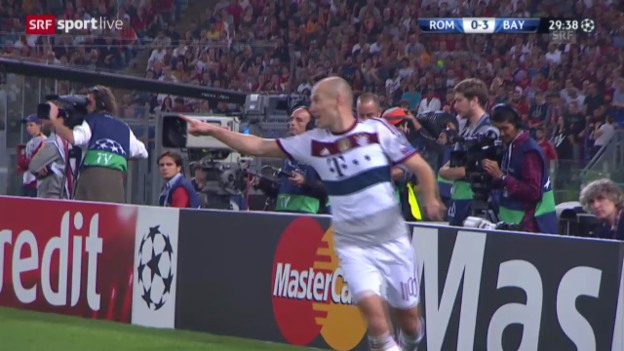 Video «Fussball: Champions-League, AS Roma - Bayern» abspielen