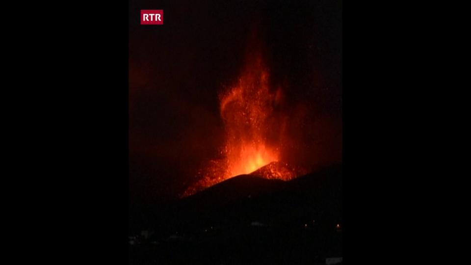 Il vulcan sin l'insla La Palma