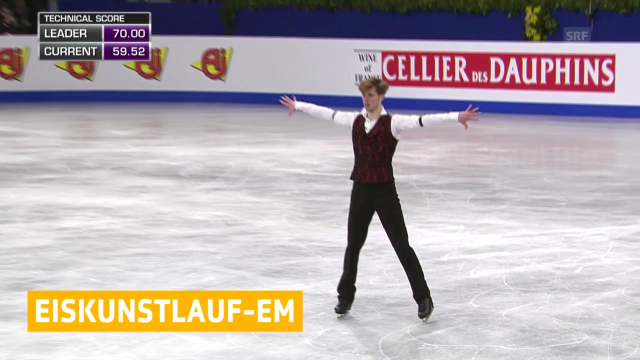 Eiskunstlaufen: EM, Walker wird 17. («sportaktuell», 18.1.2014)